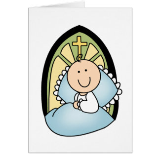 Baptism Baby Boy Card