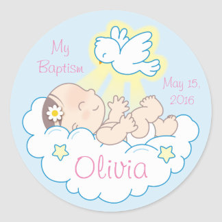 Baptism Baby Girl Stickers