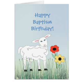 Baptism Birthday Greeting Card