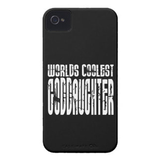 Baptism Birthday Party Worlds Coolest Goddaughter Case-Mate iPhone 4 Cases