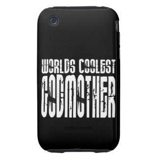 Baptism Birthday Party Worlds Coolest Godmother Tough iPhone 3 Cover
