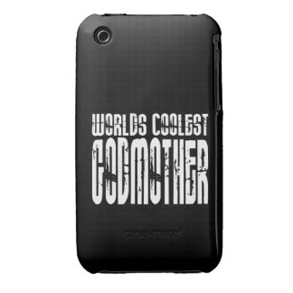 Baptism Birthday Party Worlds Coolest Godmother iPhone 3 Case-Mate Cases