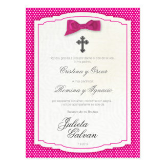 Baptism, Birthday, Quinceañera, Wedding Keepsake Postcard