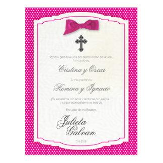 Baptism, Birthday, Quinceañera, Wedding Keepsake Postcard