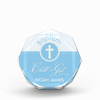 Baptism Blue Child of God, Customizable Award