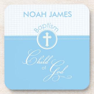 Baptism Blue Child of God, Customizable Beverage Coaster