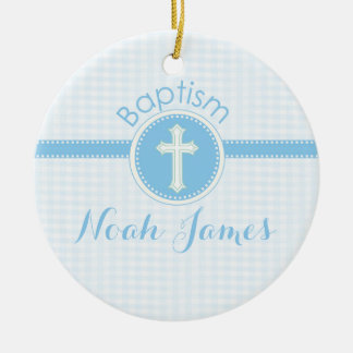 Baptism Blue Child of God, Customizable Ceramic Ornament