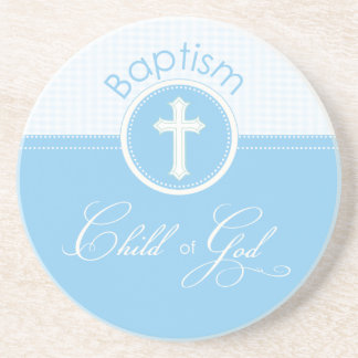 Baptism Blue Child of God, Customizable Drink Coaster