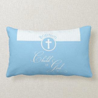 Baptism Blue Child of God, Customizable Lumbar Pillow