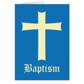 Baptism Boy Greeting Card