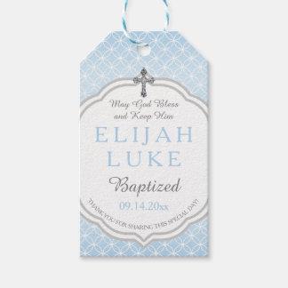 Baptism | Boy Eternity Rings Vintage Cross Gift Tags