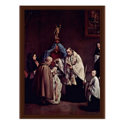 Baptism By Longhi Pietro (Best Quality) Postcard