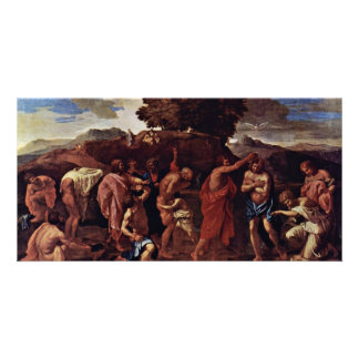 Baptism By Poussin Nicolas (Best Quality) Photo Card