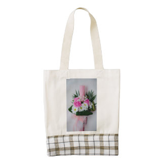 Baptism candle zazzle HEART tote bag