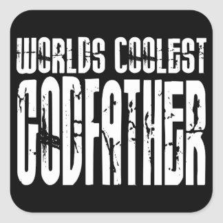 Baptism Christening Gifts Worlds Coolest Godfather Square Sticker