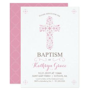 girl baptism christening invitations zazzle