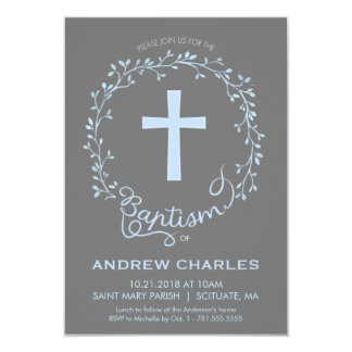 Baptism, Christening Invitation - Custom