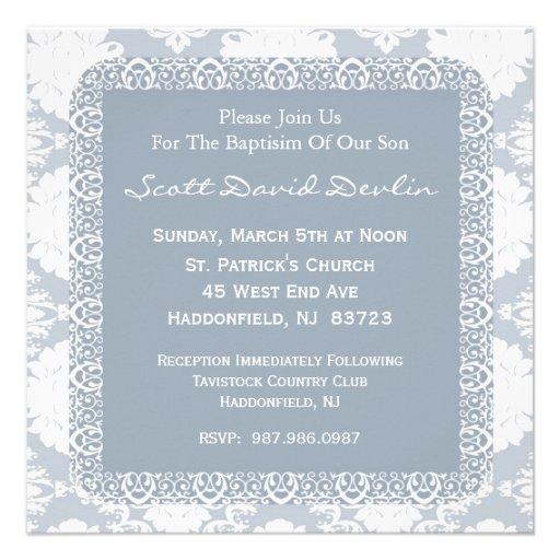 Baptism/Christening Invitation for Boy