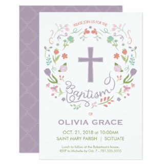 Baptism, Christening Invite for Girl - Customize