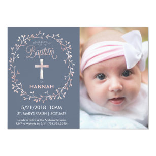 Baby Girl Baptism Invitations Announcements Zazzle