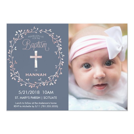 Baptism, Christening Photo Invitation - Baby Girl | Zazzle