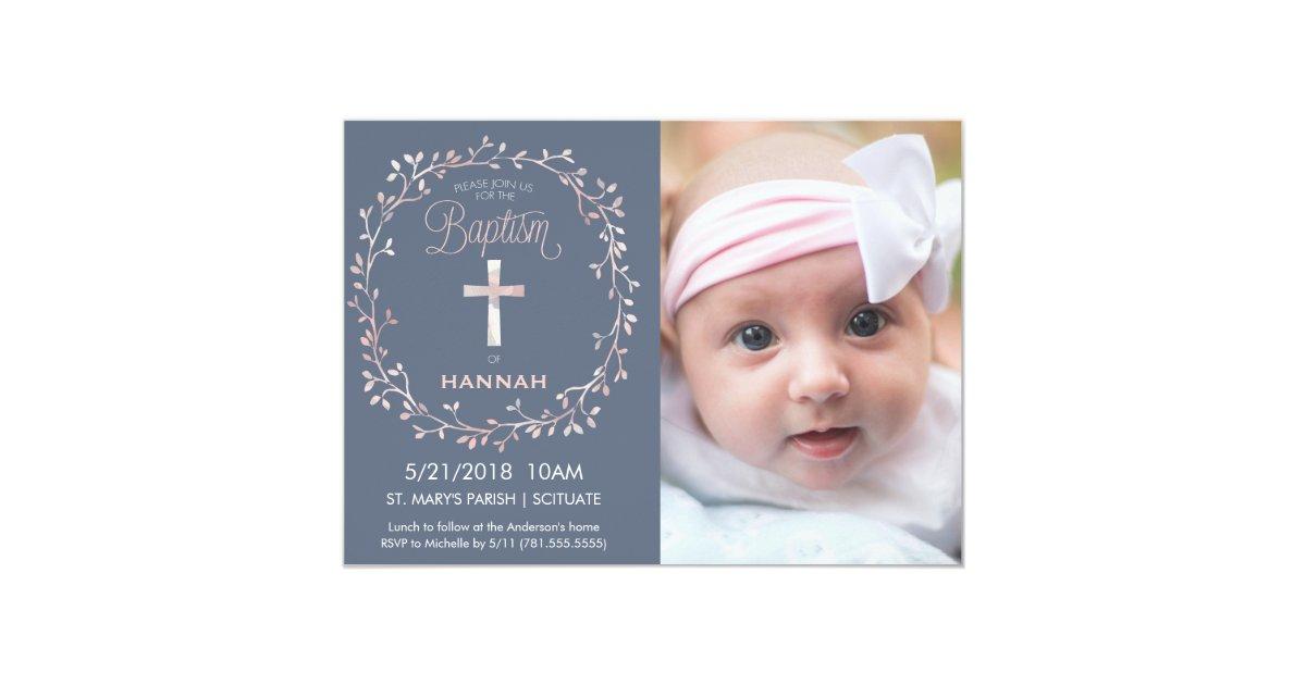 baby girl baptism invitation - Passionative.co