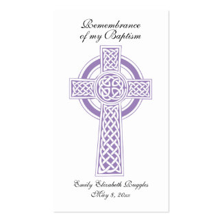 Baptism / Christianing Prayer Card Business Card