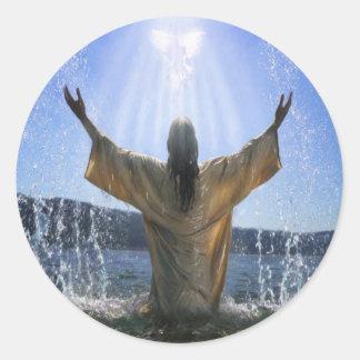 Baptism Classic Round Sticker