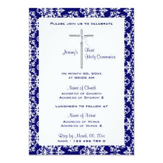 "Baptism communion confirmation christening 5"" x 7"" invitation card"
