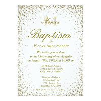 Baptism | Gold Confetti Card