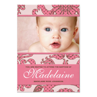 Baptism Invitation for Baby Girl