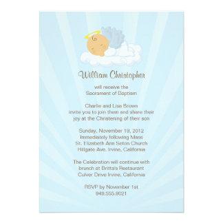 Baptism Invitation for Boy