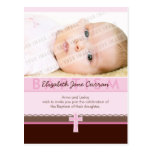 BAPTISM INVITATION :: pure 2 Postcard