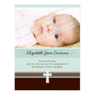 BAPTISM INVITATION :: pure 3 Postcard