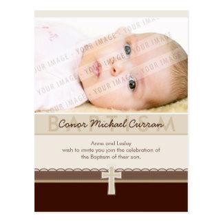 BAPTISM INVITATION :: pure 7 Postcard