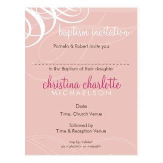 BAPTISM INVITE :: designer vogue 1 Postcard