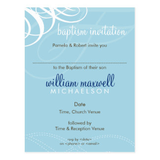 BAPTISM INVITE :: designer vogue 6 Postcard