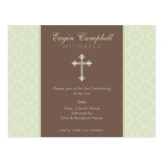 BAPTISM INVITE :: oh so beautiful 3 Postcard