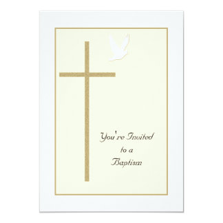 Baptism Invite Template Cross and Dove
