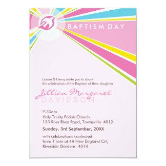 "BAPTISM INVITES :: modern dove 10P 5"" X 7"" Invitation Card"