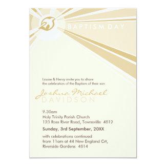 "BAPTISM INVITES :: modern dove 2P 5"" X 7"" Invitation Card"