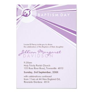 "BAPTISM INVITES :: modern dove 6P 5"" X 7"" Invitation Card"