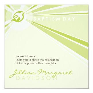 "BAPTISM INVITES :: modern dove 7SQ 5.25"" Square Invitation Card"