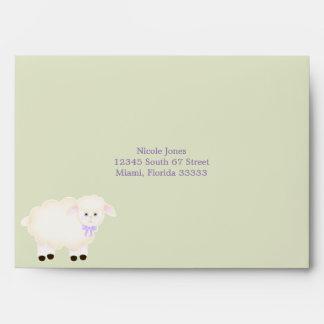 Baptism Lamb Envelope