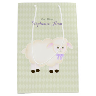 Baptism Lamb Medium Gift Bag