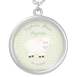 Baptism Lamb Silver Plated Necklace