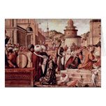 Baptism Of Believers By St George By Carpaccio Greeting Card