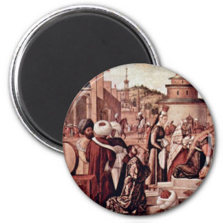 Baptism Of Believers By St George By Carpaccio Fridge Magnet