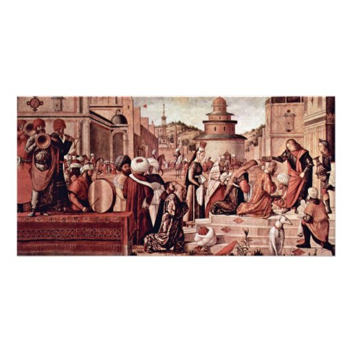 Baptism Of Believers By St George By Carpaccio Picture Card