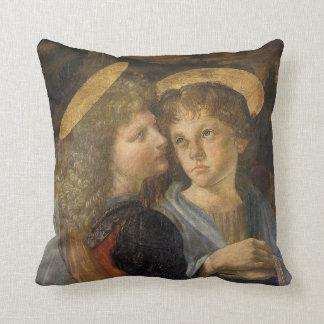 Baptism of Christ Angels by Leonardo da Vinci Throw Pillow
